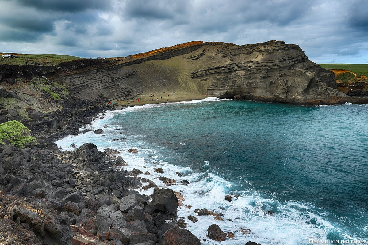 Papakōlea Green Sand Beach, Big Island, Hawaii, USA, Reisebericht