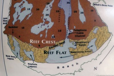 Eine Karte der Hanauma Bay