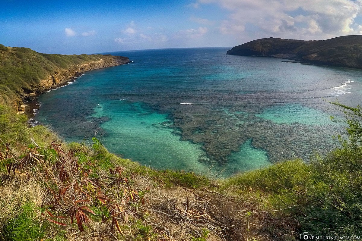 Hanauma Bay, Panorama, Oahu, Hawaii, USA, Fotospot, Reisebericht, Urlaub