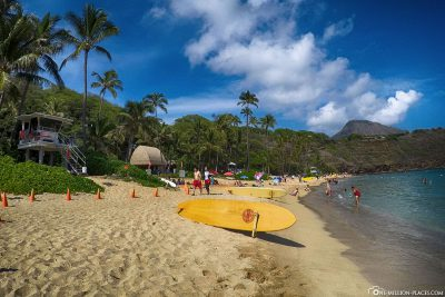 The beach of Hanauma Bay