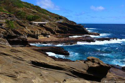 Die Hawaii Route 72 entlang der Küste