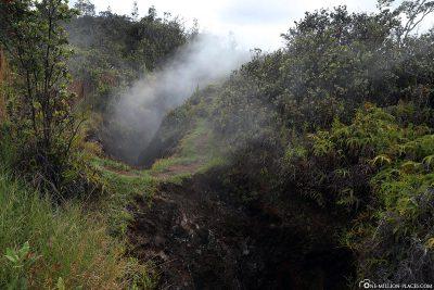 Überall steigt Dampf auf