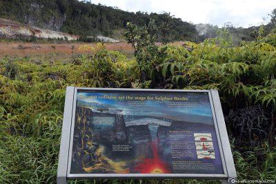 Die Sulphur Banks im Hawaii Volcanoes NP