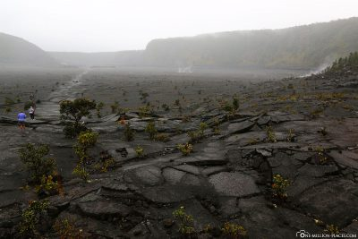 The Kilauea Iki Trail in the crater