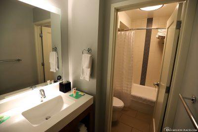 The bathroom at Hyatt Place Waikiki Beach
