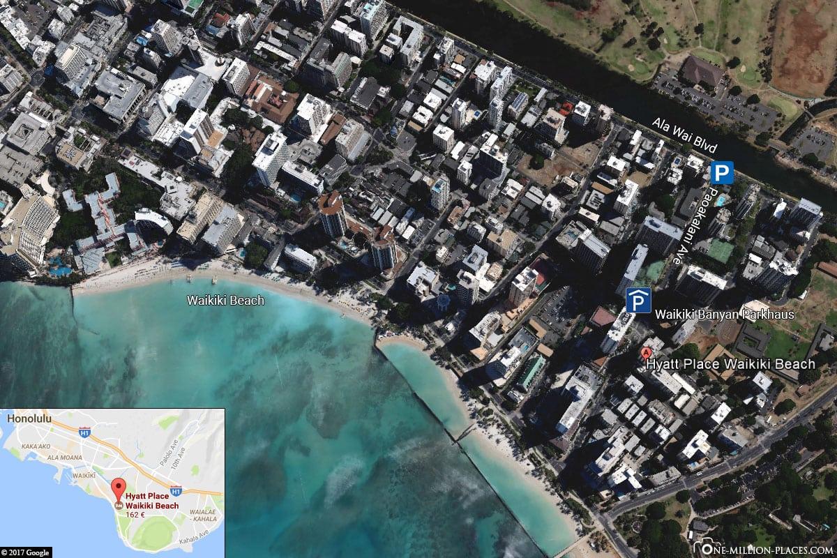 Parking, USA, Hawaii, Oahu Island, Waikiki, Travelreport, Photo