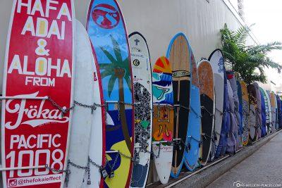 Nalu Surfboard Storage in Waikiki