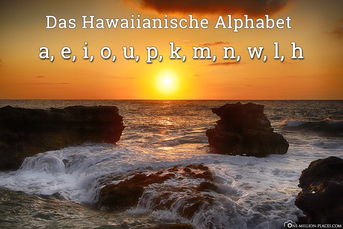 Hawaiianische Alphabet, Sprache, Hawaii, USA