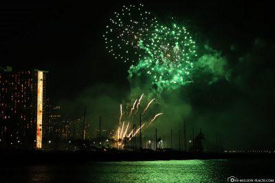 Fireworks at Waikiki Beach