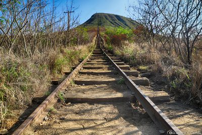The old railway tracks