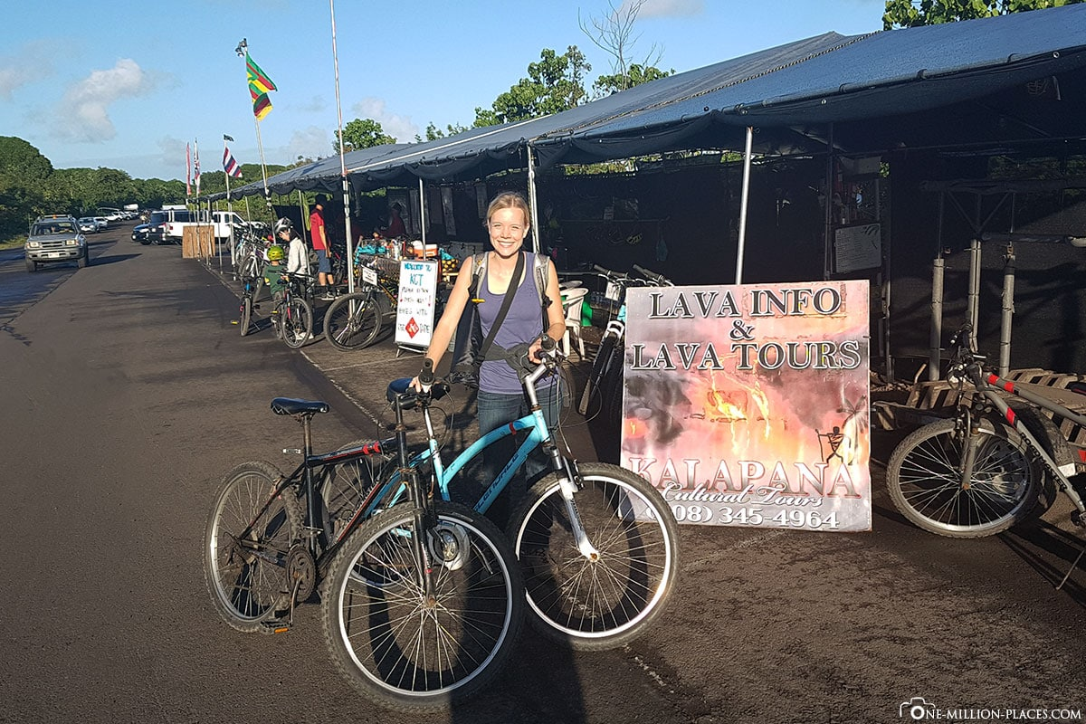 Bike Rental, Fahrradverleih, Lava Viewing, Ocean Entry, Bike Rental, Kalapana, Big Island, Hawaii, USA, Reisebericht