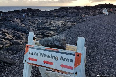 Signpost to The Lava Viewing Area