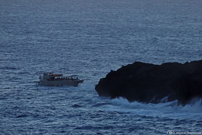 View of one of the Lava Boat Tours