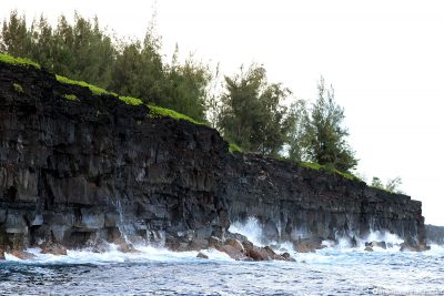 The steep cliffs on the Coast of Big Island