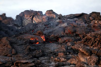 The lava on its way to the sea
