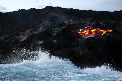 The Lava Ocean Entry at Kalapana