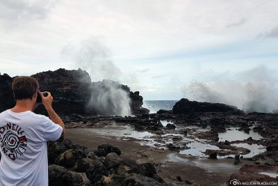 The Nakalele Blowhole in Maui
