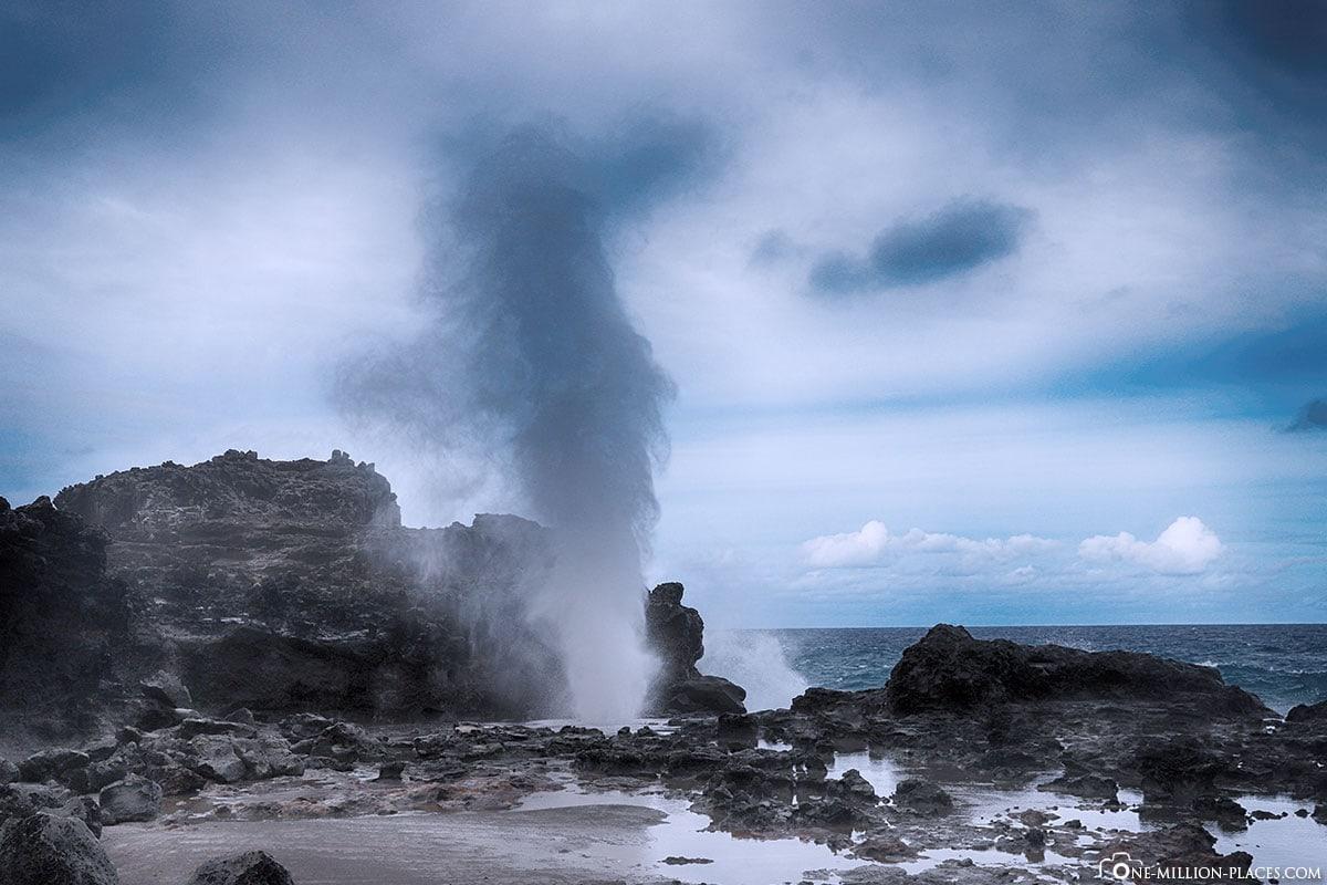 Nakalele Blowhole, Maui, Hawaii, USA, Travelreport