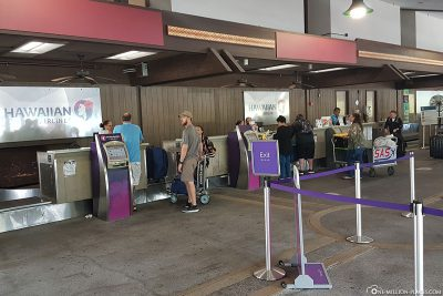 Check In at the Flight In Hilo