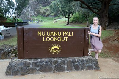 Entrance to Nuuanu Pali Lookout
