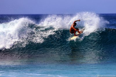 Surfing the North Shore of Oahu