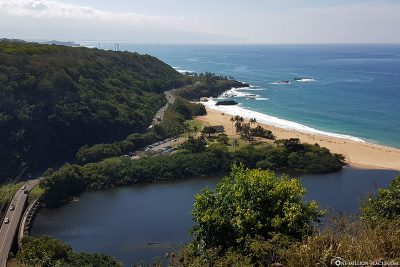 View of Waimea Bay Beach Park