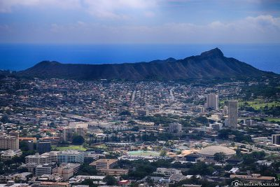 The view of Diamond Head