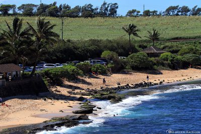 The beach at Ho'okipa Beach Park