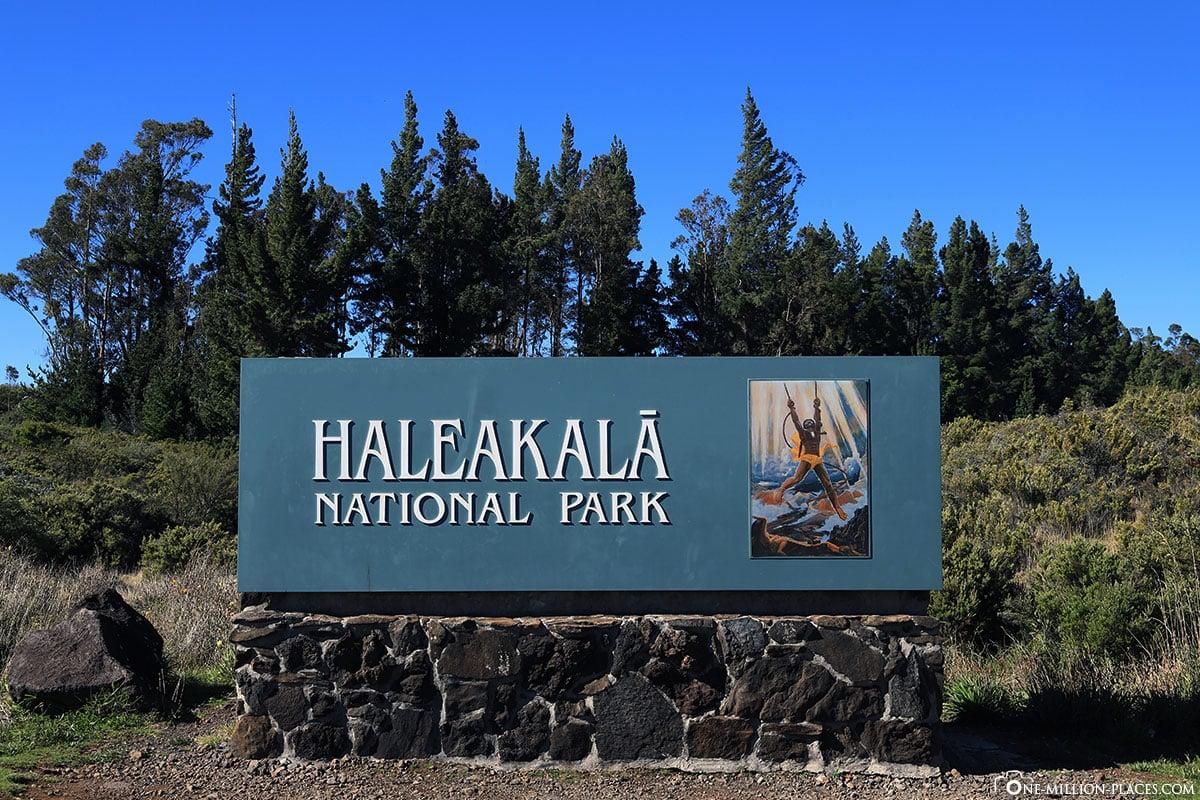 Entrance, Haleakala National Park, Maui, Hawaii, USA, Travel report