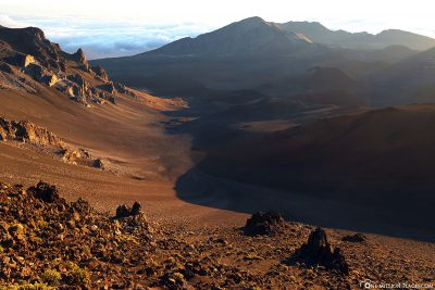 The view into the crater landscape of Haleakala