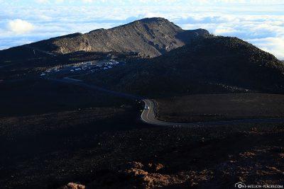 Blick auf den Haleakala Visitor Center Aussichtspunkt