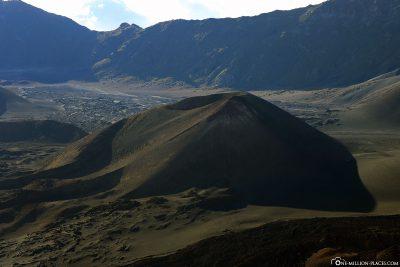 The lunar landscape of Haleakala Crater