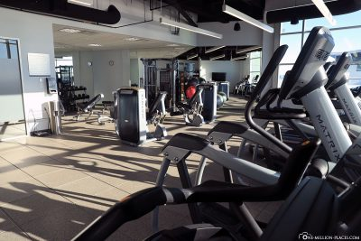 Das Fitnesscenter im Calgary Airport Marriott In-Terminal Hotel