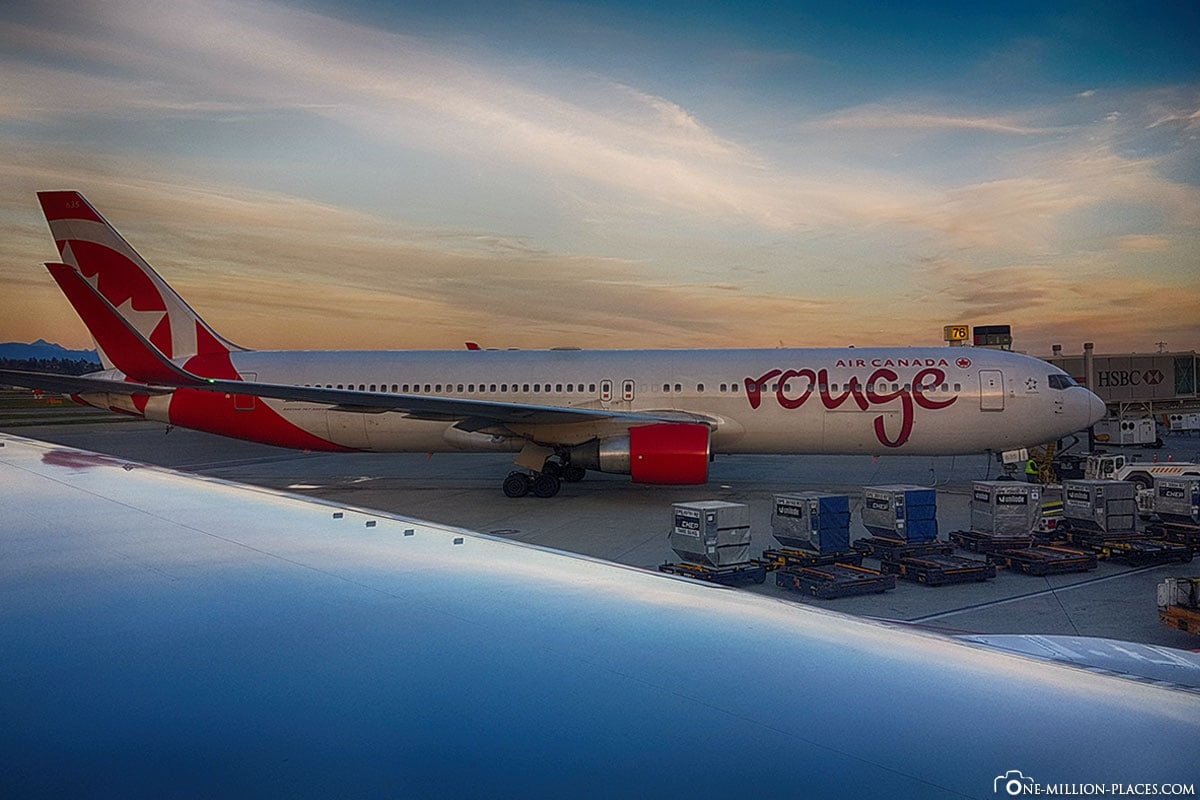 Air Canada Rouge, Hawaii, Kanada, Stopover