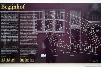 Karte vom Begijnhof