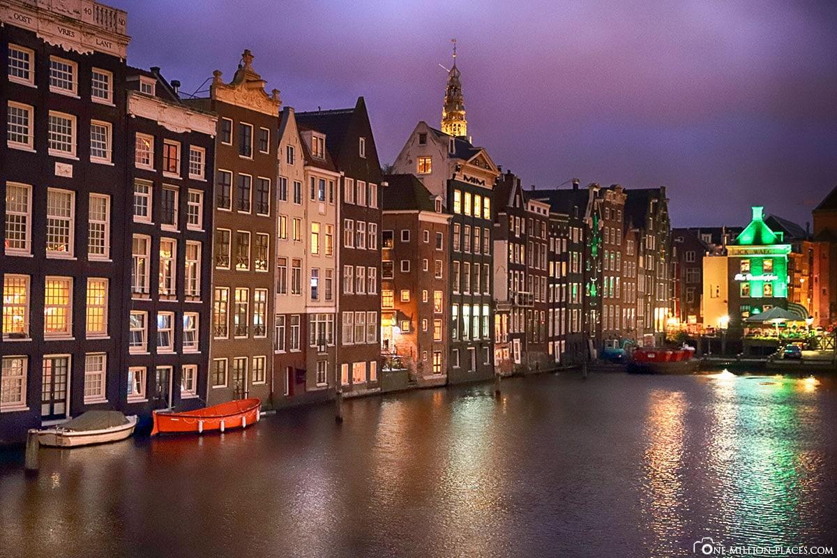 Amsterdam bei Nacht, Amsterdam, Sehenswürdigkeiten, Sightseeing, Best Places, Citytour, Fotospots