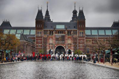 I Amsterdam Zeichen am Rijksmuseum