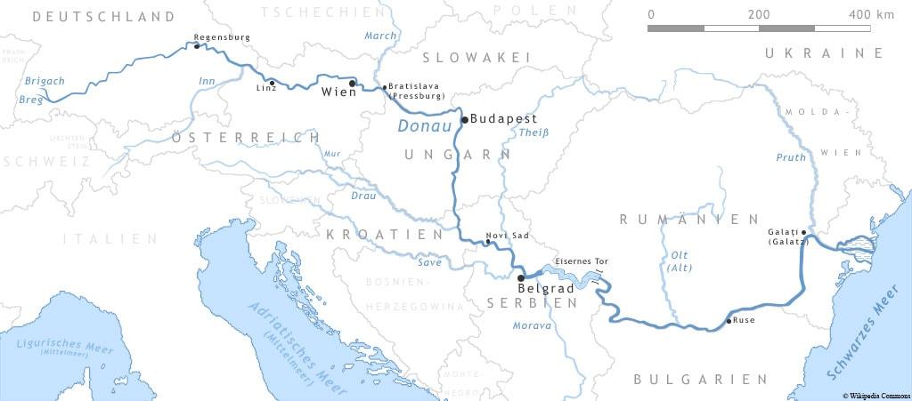 Verlauf der Donau, A-ROSA, Bella, Flusskreuzfahrt, Schiff, Donau Klassiker, Erfahrungen, Reisebericht