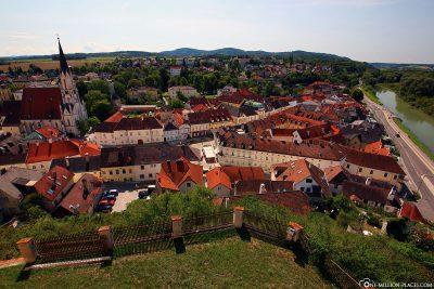 The town of Melk in Austria