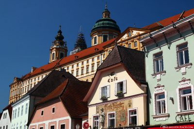 The old town of Melk with the Benedictine monastery