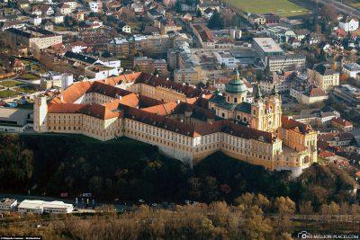 Aerial view of Melk Abbey