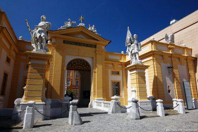 The portal to the Benedictine monastery