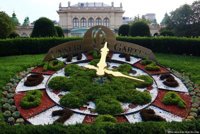 The flower clock in the city park