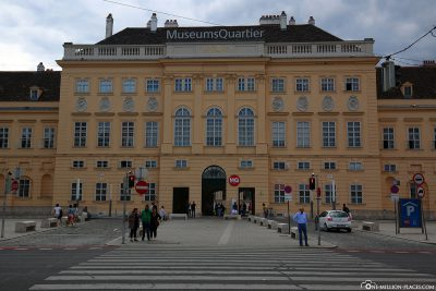 The entrance to the MuseumsQuartier