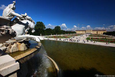 Blick vom Neptunbrunnen