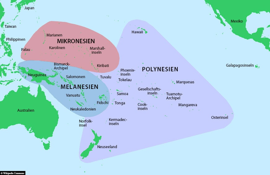 Mikronesien, Lage, Karte, Reisebericht