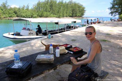 Mittagessen auf Peleliu