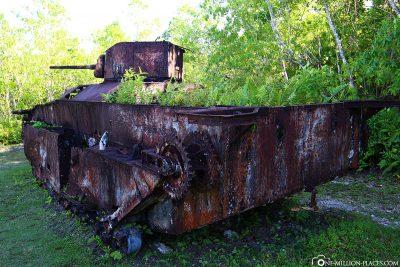 Alter Panzer auf Peleliu