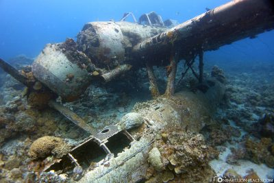 Wreck diving in Palau