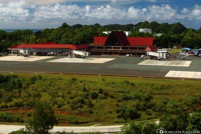 Der Flughafen in Koror
